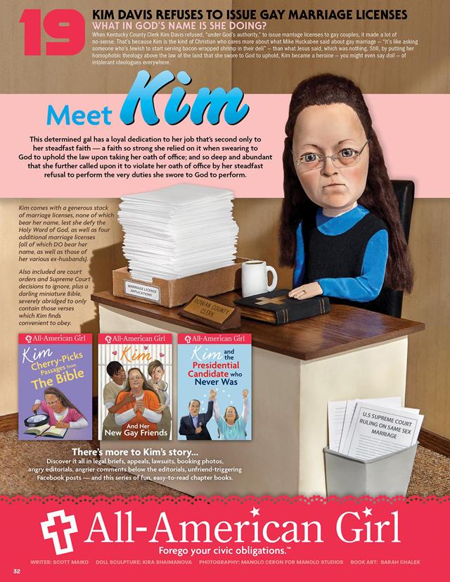 Kim Davis for MAD Magazine